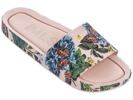 Chinelo Melissa Feminino Beach Slide III | Floral Rosa