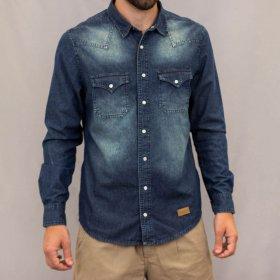 Imagem - Camisa Aragäna Masculina Jeans Destroyer - 2.2195