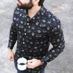 Imagem - Camisa Aragäna Masculina ML Frutas Marinho - 2.2394