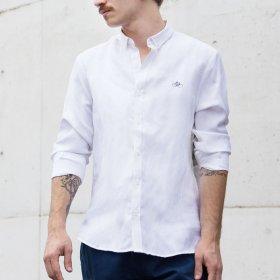 Imagem - Camisa Aragäna Masculina Regular Lisa Branca - 2.2387