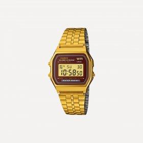 Imagem - Relógio Casio Unissex Vintage A159WGEA-5DF Dourado e Marrom - 2.1228