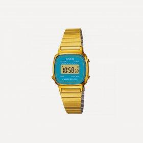 Imagem - Relógio Casio Unissex Vintage LA670WGA-2DF Azul Piscina/Dourado - 1.1128
