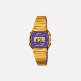 Imagem - Relógio Casio Unissex Vintage LA670WGA-6DF Lilás/Dourado - 1.1127