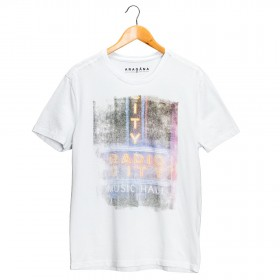 Imagem - Camiseta Aragäna Masculina Rádio City   Branco - 2.1193