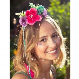 Imagem - Tiara Aragäna + Reuse Rosa Pink e prata - 2.2576