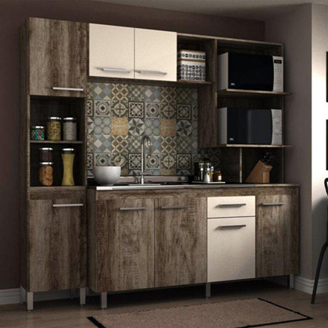 Cozinha Compacta 2,00x2,00x0,53m Manto Móveis MDP Isis