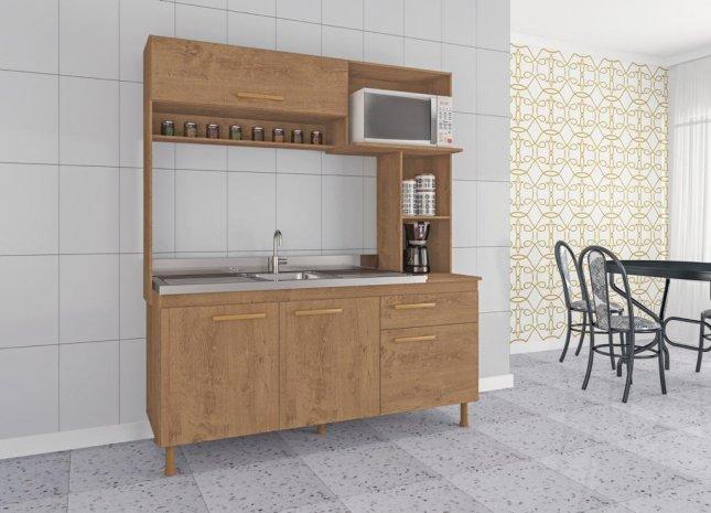 Cozinha Compacta 1,83x1,53x0,53m Atualle MDP Marselha