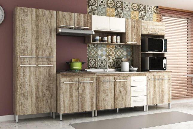 Cozinha Modulada com 6 Módulos Manto Móveis Sportage em MDP