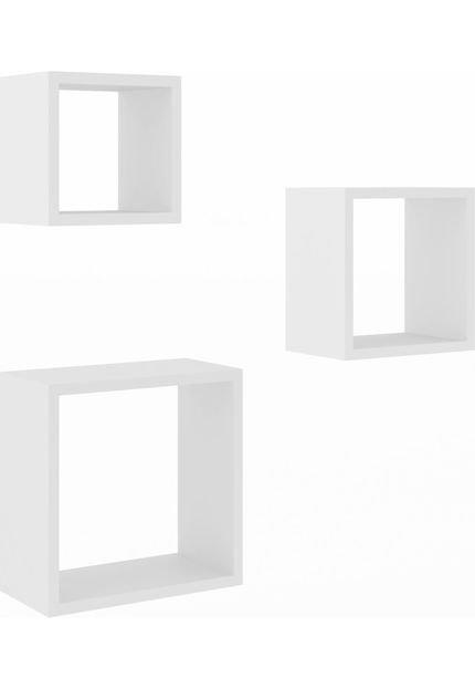 Trio de Nichos Decorativos 30/25/20cm Móvel Bento MDP