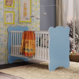 Imagem - Berço Infantil com mosquiteiro 0,92x0,68x1,33m Percasa MDP cód: 2-3