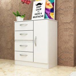 Imagem - Cômoda Flex 4 gavetas e 1 porta 0,91x0,80m Manto Móveis cód: 021-1