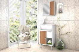 Imagem - Conjunto para Banheiro com Espelho 0,83x0,44m Belizze Lucca  cód: 379-1