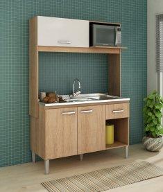 Imagem - Cozinha Compacta CC14 em MDP Fellicci Sarah  cód: 444-1