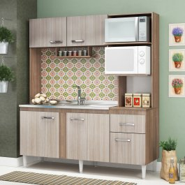Imagem - Cozinha Compacta CC46 em MDP Fellicci Sevilha cód: 442-1