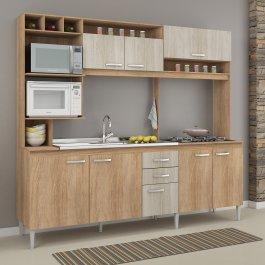 Imagem - Cozinha Compacta com espaço para cooktop em MDP Fellicci Helen cód: 443-1