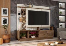 Imagem - Estante Home Theater com portas e nichos Grappa Vivaz  cód: 484-1