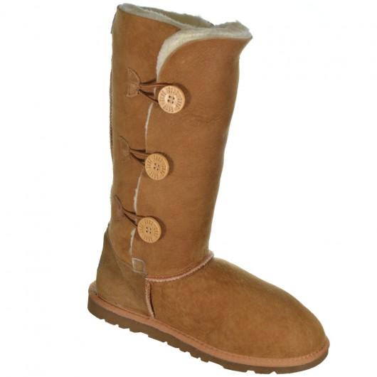 Bota Illi Boots Pele Ovina Cano Alto 3 Botões