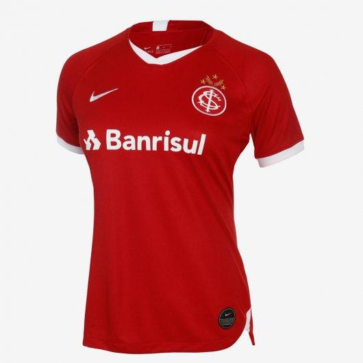 Camisa Baby Look Nike Internacional I 2019/20 Torcedora Feminina