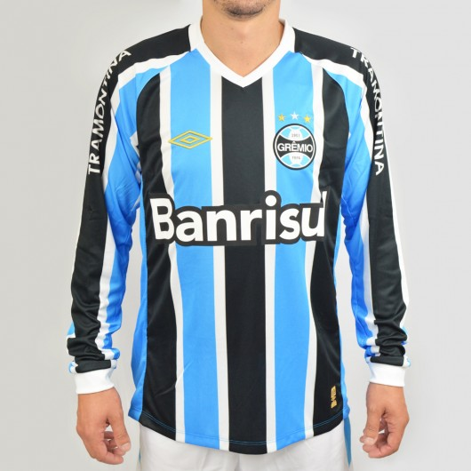 Camisa Manga Longa Grêmio 2015 622707 - Tricolor - Atitude Esportes ... 2a4ee5d143ccc