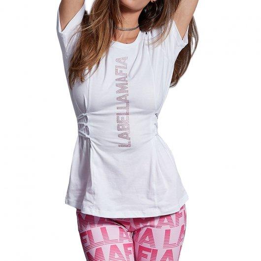 Camiseta Labellamafia Neutral Flowers