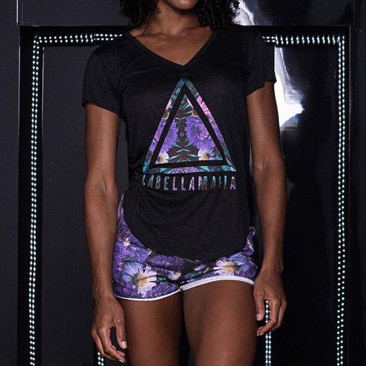 Camiseta Labellamafia Neutral Flowers Oasis Triangle