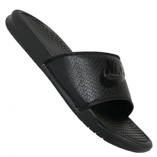 4535ba6ed Chinelo Nike Benassi Just Do It Slide 343880-001 - Preto - Atitude ...