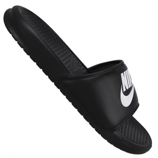 870b600f6 Chinelo Nike Benassi Just Do It Slide 343880-090 - Preto/Branco ...