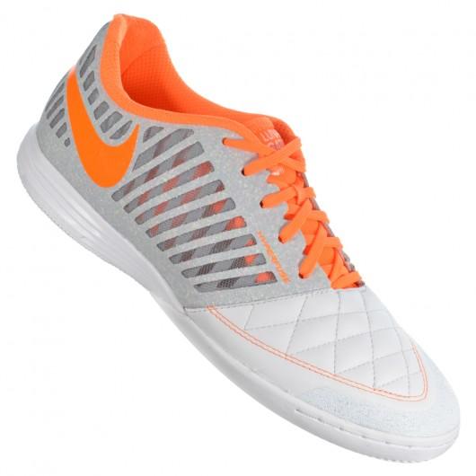 ced942bcdeb Chuteira Nike Lunargato II 580456-180 - Branco Laranja - Atitude ...