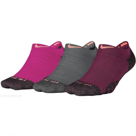 Meia Nike 3PPK Dry Cushion No Show Woman Sem Cano