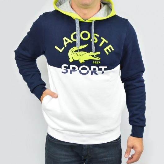 f365a170d58c1 Moletom Lacoste SH233321 - Marinho Verde - Atitude Esportes -As ...