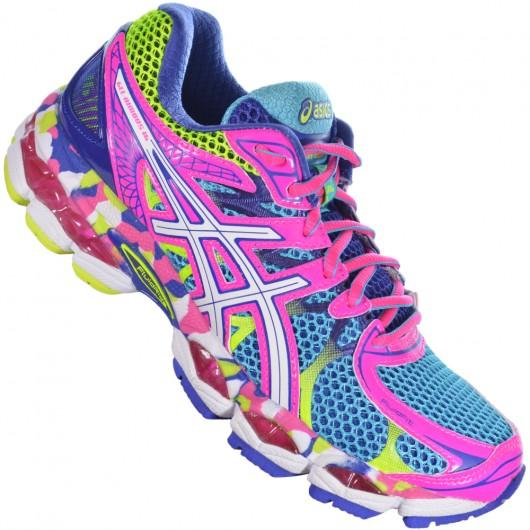 f7c29a12d2c Tênis Asics Gel Nimbus 16 T485Q4201 - Rosa Azul - Atitude Esportes ...