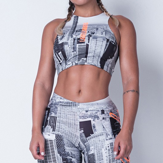 Top Labellamafia Fitness Printed Town