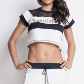 Imagem - Blusa Labellamafia Cropped Black And White