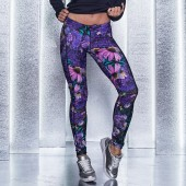 Imagem - Legging Labellamafia Neutral Flowers Oasis Purple