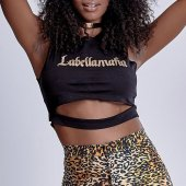 Imagem - Regata Labellamafia Cropped Golden Black Street