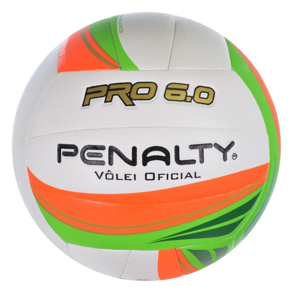 44c8120dd8359 Bola Penalty Vôlei Pro 6.0 5211661790 - Branco Verde Laranja ...