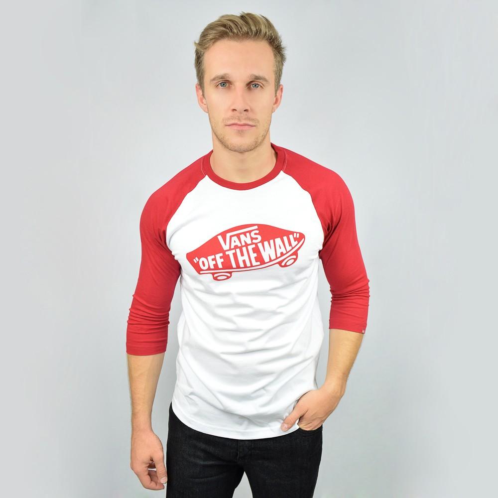 5ca268910c Camisa Manga Longa Vans OTW Raglan - Branco Vermelho - Atitude ...