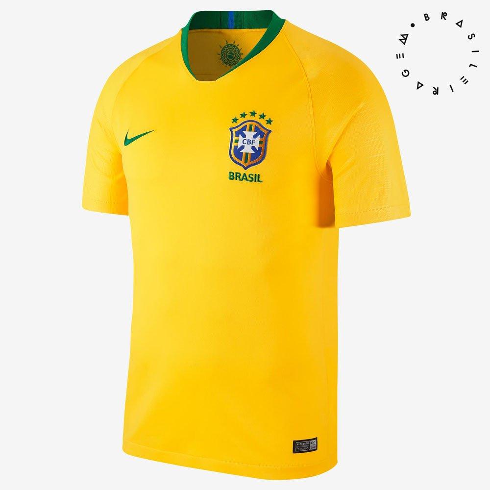 Camisa Nike CBF Brasil Of 1 2018 Torcedor Masculina a8eb480ae6b