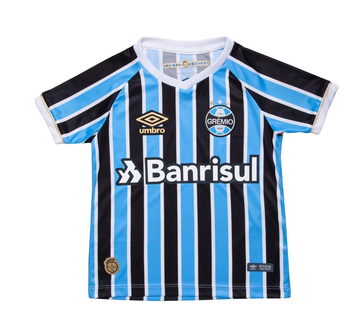 Camisa Umbro Grêmio Of 1 2018 Infantil Original d83e865631779