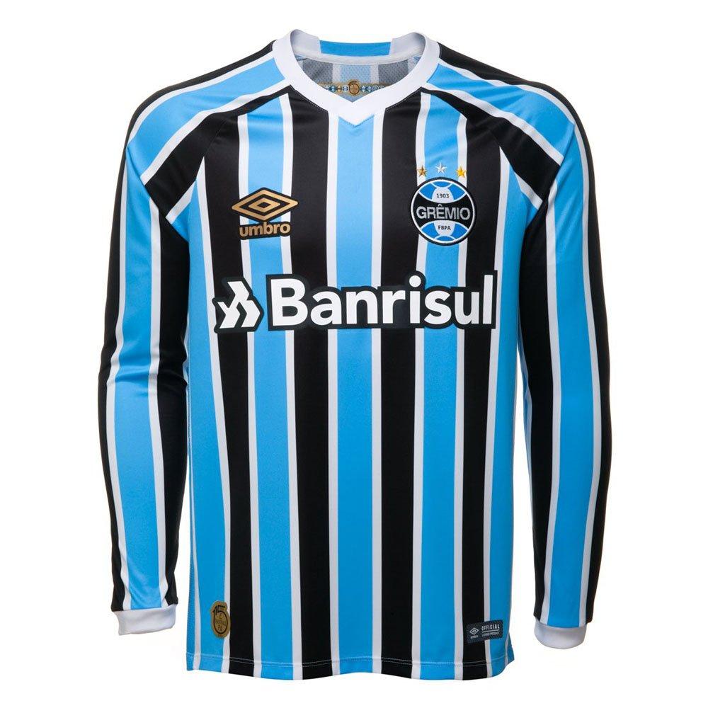 2abf33198 Camisa Umbro Manga Longa Grêmio OF 1 2018 Original Masculina