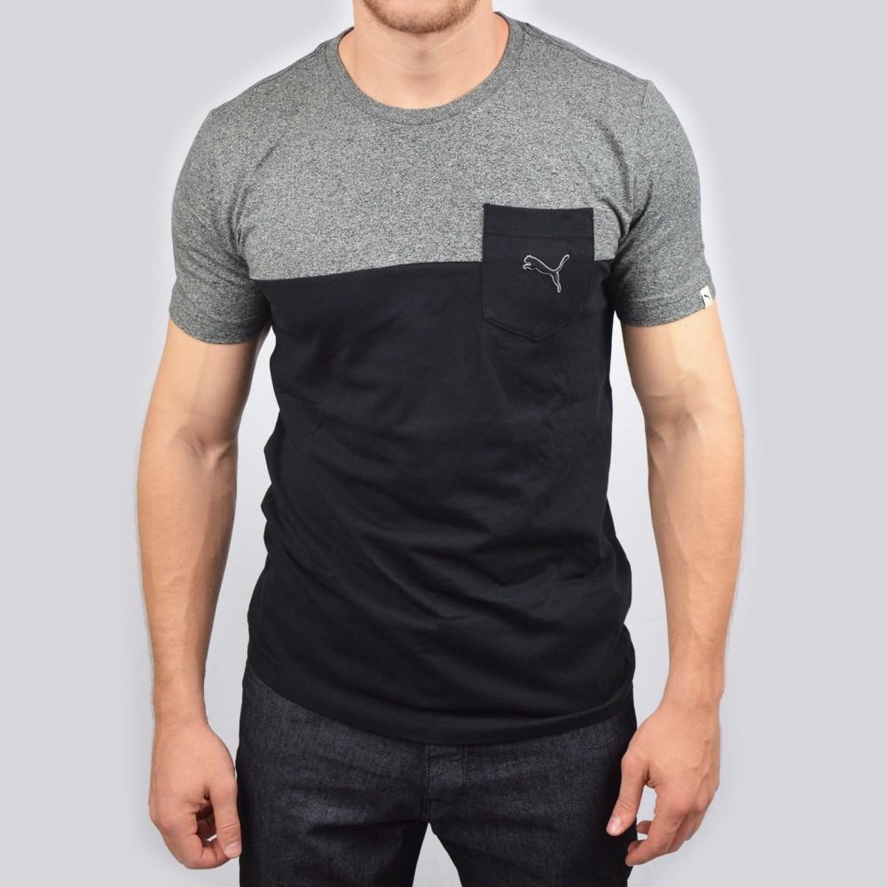 Impresionante cocinar extremadamente  Camiseta Puma Pocket Tee Camisetas - Preto/Cinza - Atitude Esportes -As  melhores marcas em artigos esportivos e casuais!