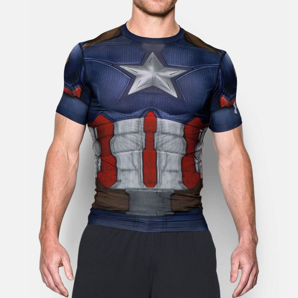 43a3277d97f Camiseta Under Armour Capitão América Compressão