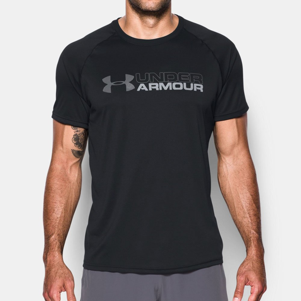 cueva Chelín impuesto  Camiseta Under Armour Tech Wordmark Masculina Original