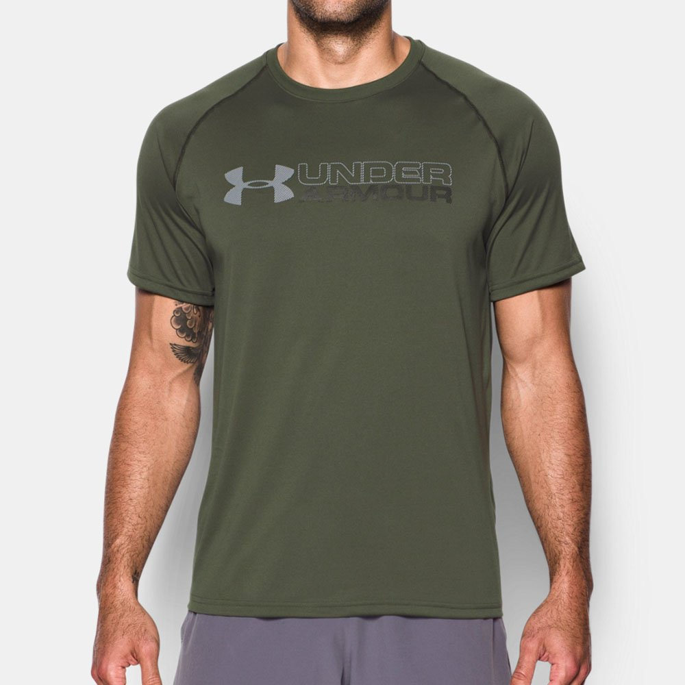 Camiseta Under Armour Tech Wordmark Masculina Original 89a02c3d5ba86