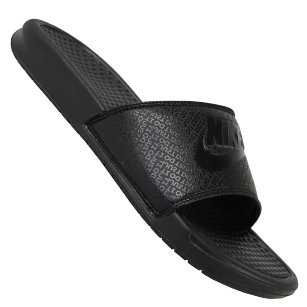 53f6319c3c Chinelo Nike Benassi Just Do It Slide 343880-001 - Preto - Atitude ...