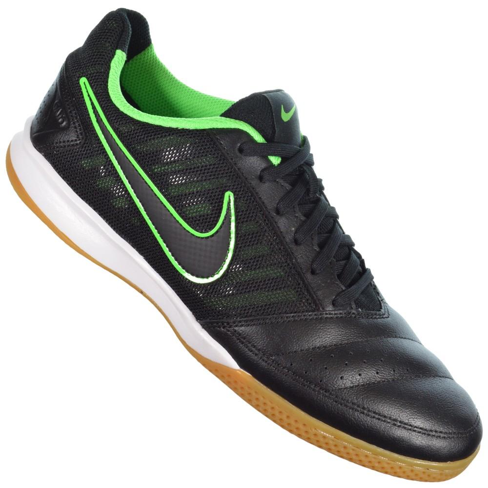 7988176f56b Chuteira Nike Gato II 580453-003 - Preto Verde - Atitude Esportes ...