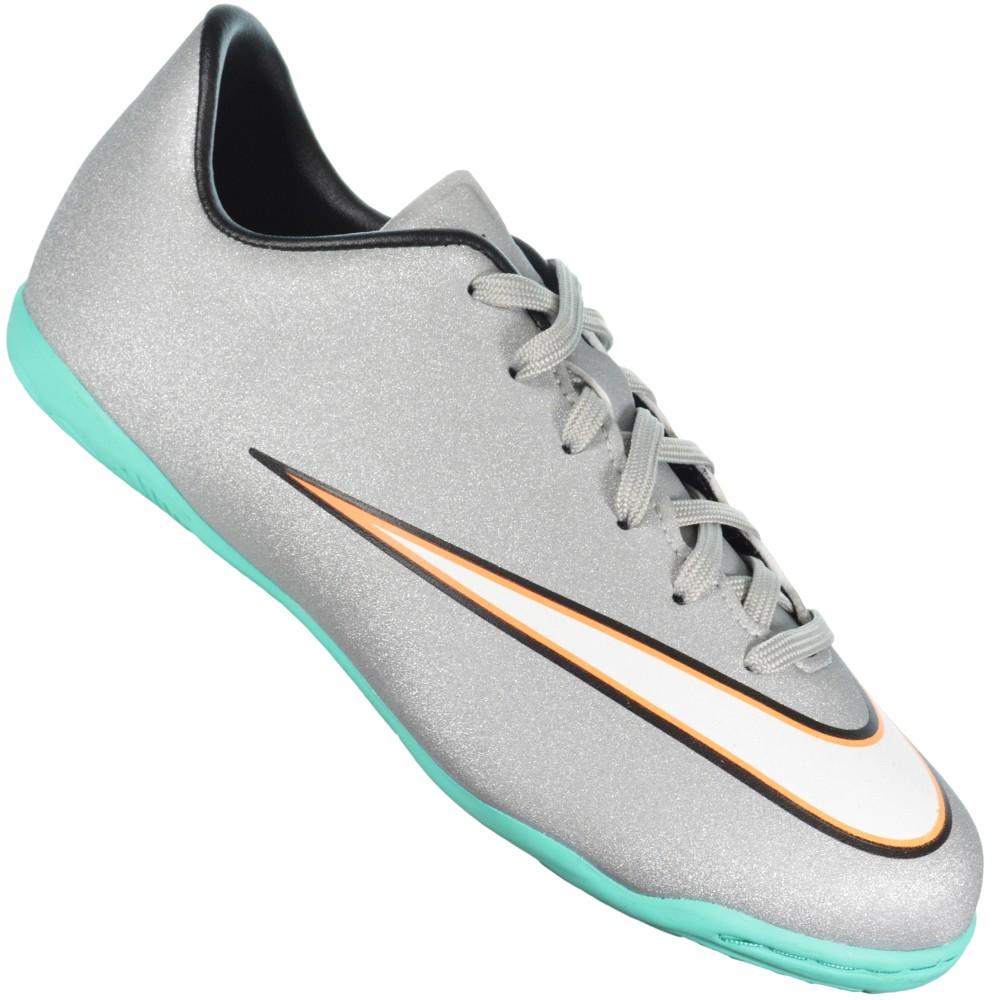 Chuteira Nike Victory V CR IC Infantil 684851-003 - Cinza Verde Água ... 670ed23d7c2cb