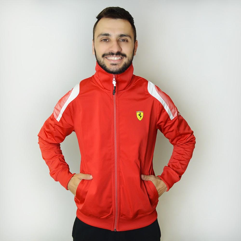 89cc04b52 Jaqueta Puma Scuderia Ferrari Track 761471-02 - Vermelho - Atitude ...