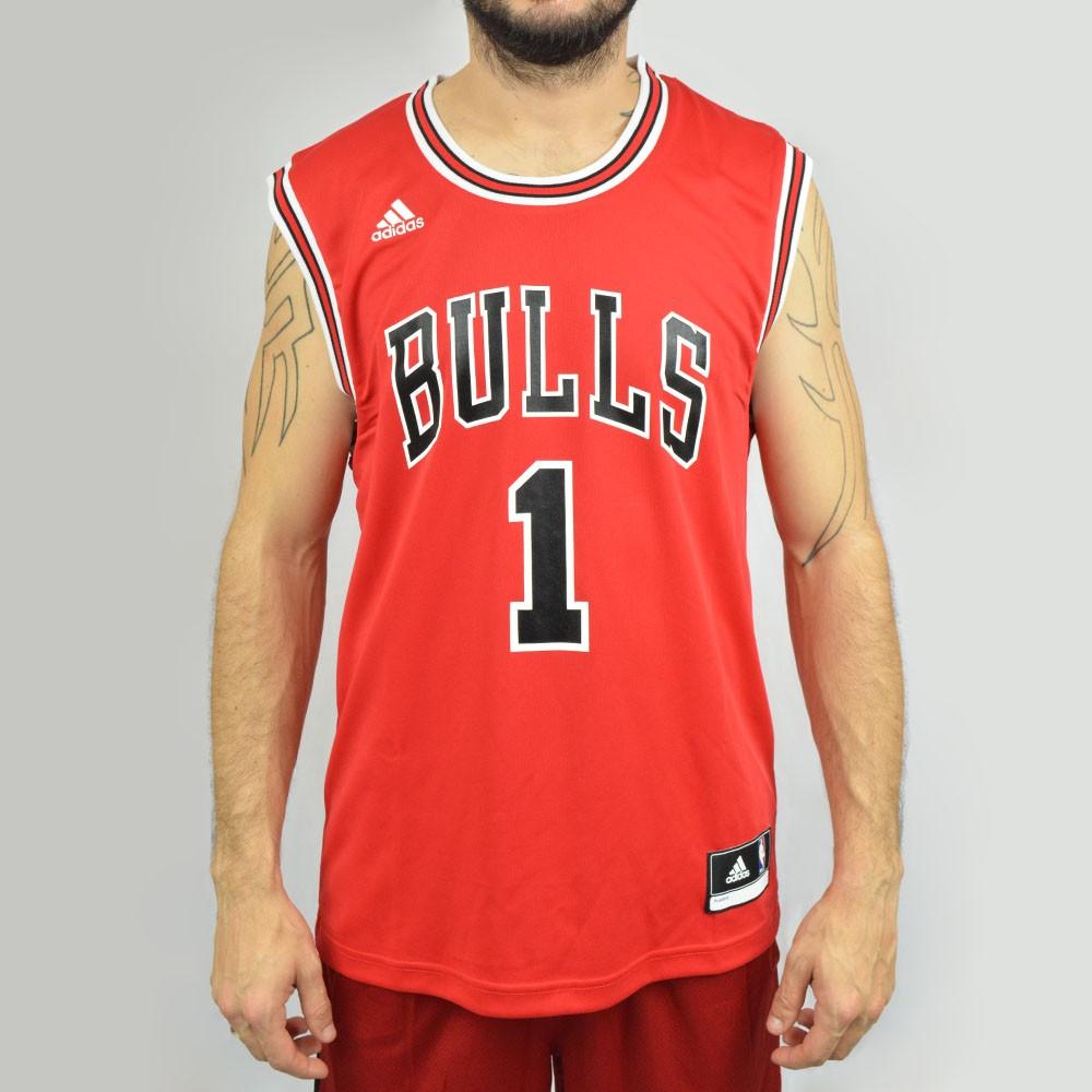 Regata Adidas NBA Chicago Bulls Rose L69777 - Vermelha - Atitude ... c33e7d1cbf9