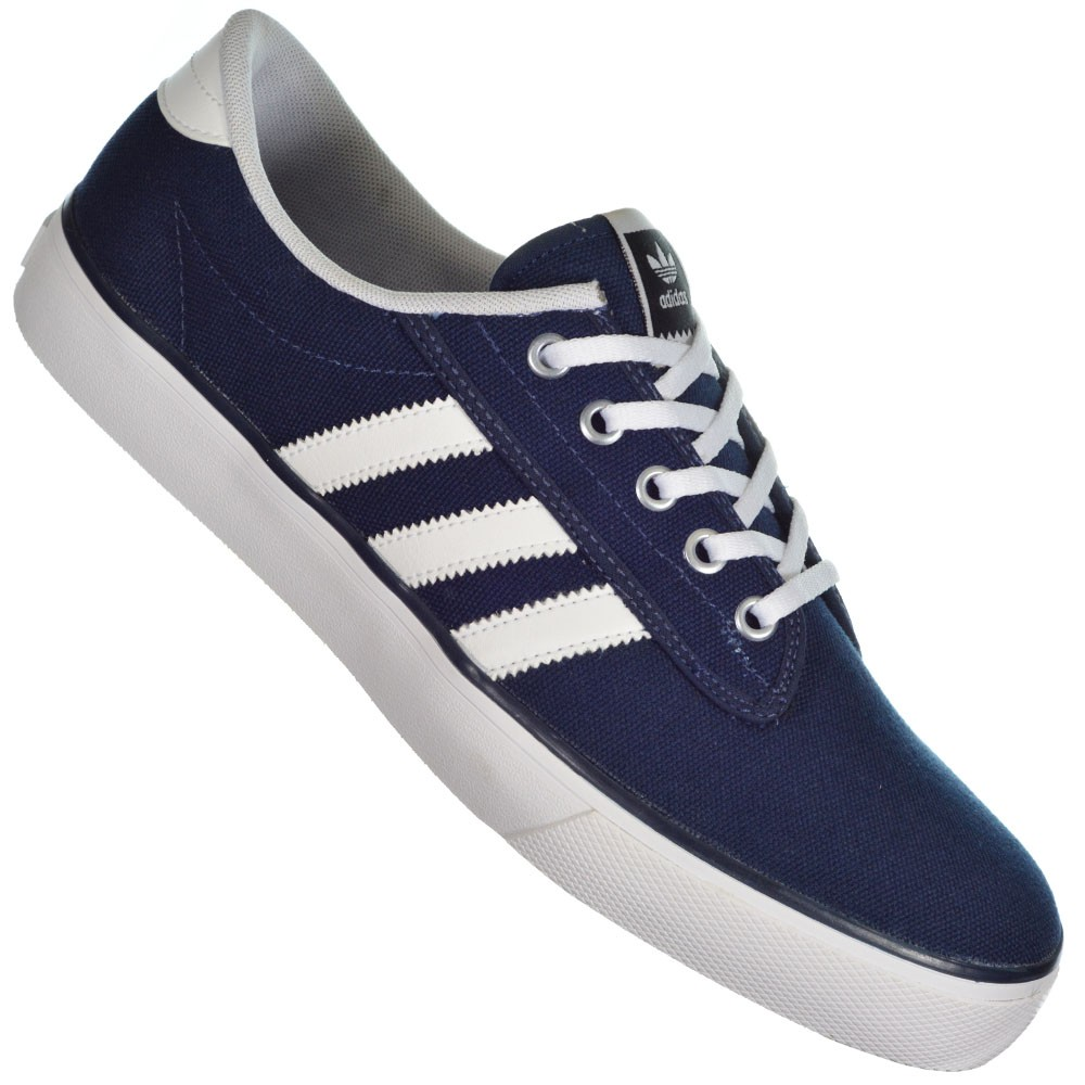 Tênis Adidas Originals Kiel D69234 - Marinho Branco - Atitude ... 9b8bfb0cb08ba